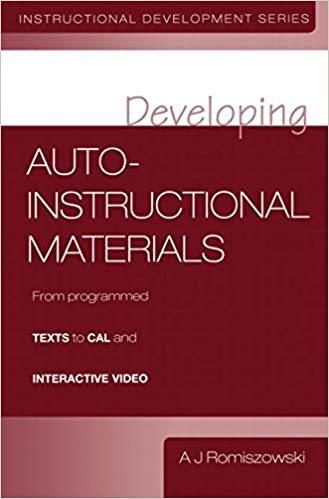 Developing Auto Instructional Materials Romiszowski Aj