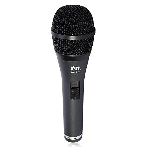 Proslogan DM-1208 Professional Vocal Dynamic Cardioid Wired Microphone with 19.7ft XLR-1/4