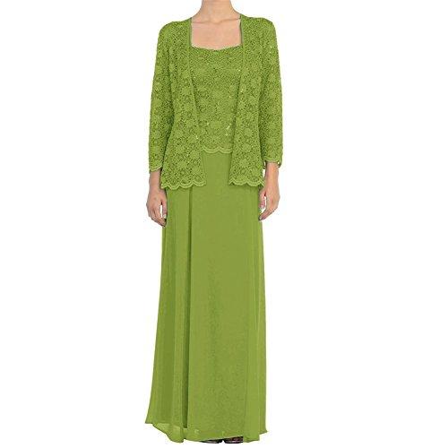 Topkleider trapecio mujer Verde para Vestido ffwzO
