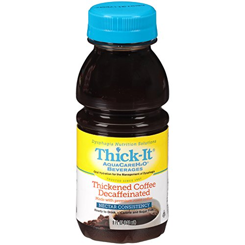 Thick-It Aquacare H2O Nectar Consistency Pre-thickened Coffee Decaf, 8 Ounce (Pack of 24) by Thick-It