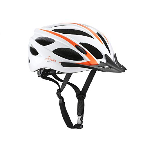 Cheap Sefulim Specialized Cycle Helmet Adult Racing Bike Cycling Helmets by Sefulim Adjustable Size for Girls Boys Spectacle-wearers White(56cm-62cm)