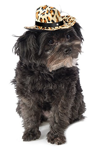 Cheetah Dog Costume (Rubie's Leopard Print Cowboy Hat for Dogs,)