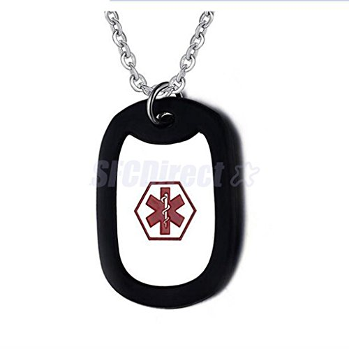 Stainless Steel Medical Emergency Pendant Necklace Alert ID Unisex Jewelry #2 by sfcdirect