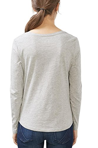 edc by Esprit 027cc1k053, Camisa para Mujer Gris (Medium Grey 5)