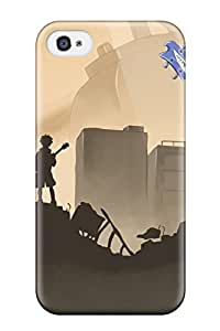 Iphone 4/4s Hard Back With Bumper Silicone Gel Tpu Case Cover Flcl