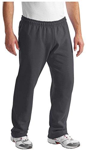 Port & Company, pantaloni della tuta, da uomo, leggeri, con elastico in vita, in felpa Charcoal XX-Large