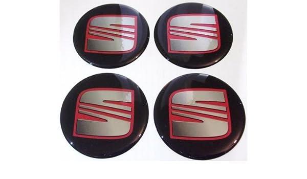 Seat - Pegatinas con Emblema para llantas o tapacubos, 4 unidades, 60 mm: Amazon.es: Coche y moto