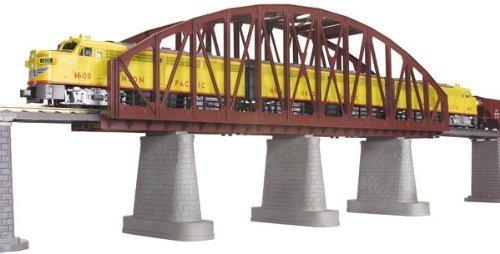 MTH Electric Trains O Steel Arch Bridge, Rust