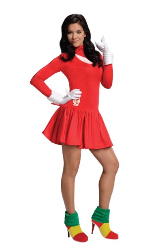 Sonic Adult Costumes (Secret Wishes  Costume Sonic The Hedgehog, Adult Knuckles Dress and Accessories, Red, Medium)