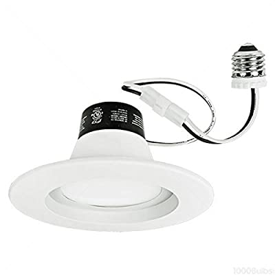820 Lumens - 14W LED - Downlight - 85W Equal - 4100K - Fits 5 or 6 in. Can Lights - Integrated Baffle Trim - Dimmable - TCP LED14DR5641K