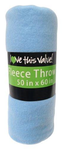 Cozy 50 X 60 Fleece Throw Blanket -Baby Blue