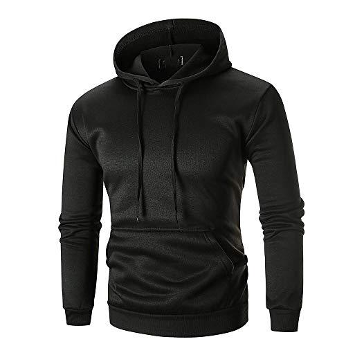 Sunhusing Men Autumn Winter Long Sleeve Casual Sweatshirt Hoodies Solid Color Tracksuits (Logo Tracksuit)