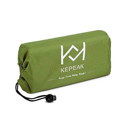 Kepeak Portable Beach Blanket Huge Picnic Blanket Waterproof Sand Proof with 4 Stakes Lightweight Pocket Blanket Picnic Mat 80