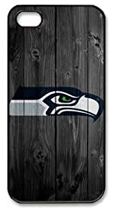 LZHCASE Personalized Protective Case For Iphone 5C Cover NFL Seattle Seahawks in Wood Background
