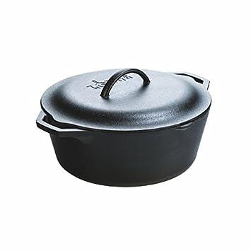 Lodge L10D0L3 sarten hierro fundido, 7 quarts, Negro
