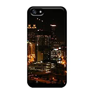 Hot Atlanta Skyline First Grade Tpu Phone Case For Iphone 5/5s Case Cover