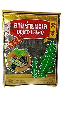 Dried Laver Sushi Nori Premium Roasted Organic Seaweed 20 G.