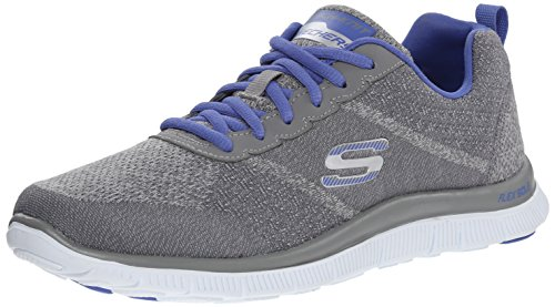 Skechers Flex Appeal Simply Sweet Damen Sneakers Grau (Gypr)
