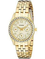 Citizen Womens ED8132-55P Analog Display Japanese Quartz Gold Watch