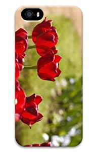 Rosesea Custom Personalized iPhone 5S Customized Unique Print Design Red Tulips 6 iPhone 5 5S Cases 3D