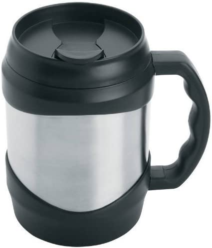 Amazon Com New Oversized Stainless Steel 52 Oz Coffee Travel Mug Keg Large Huge Cup Black By New Unbrand Kitchen Dining