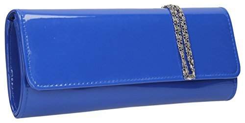 Jasmine Evening Patent Bridal Blue Clutch Flapover Bag SWANKYSWANS Party Prom HEHaRrqf