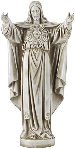 Design Toscano LY712152 The Sacred Heart of Jesus Spiritual Garden Statue