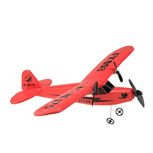 - SQSAY Remote Control RC Helicopter Plane Glider Airplane EPP Foam 2CH 2.4G Toys for Adults and Kids (Yellow/Red),Red