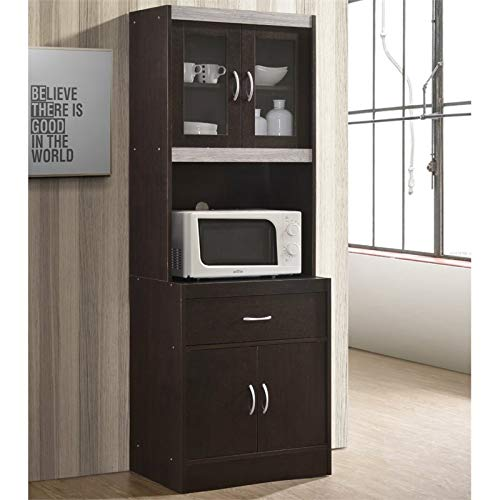 Hodedah Kitchen Cabinet in Chocolate Gray