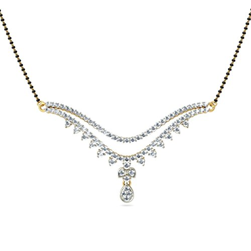 L'Or jaune 14 K carat au total White-diamond (IJ | SI) Mangalsutra