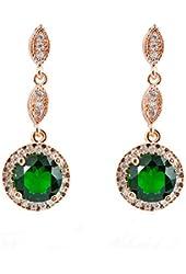 Junxin Jewelry Diamond Earrings for women 10KT Gold
