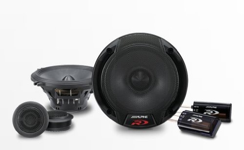 Alpine Spr-50c 5.25-Inch 2 Way Pair of Component Car Speaker System by Alpine