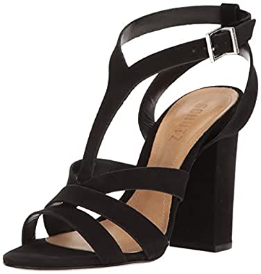 Schutz Women's Veggy Dress Sandal, Black, 6 M US