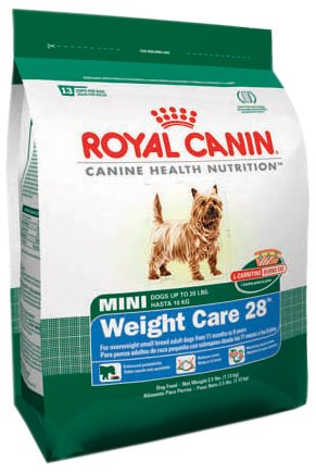 Royal Canin Dry Dog Food, Mini Weight Care 28 Formula, 2.5-Pound Bag