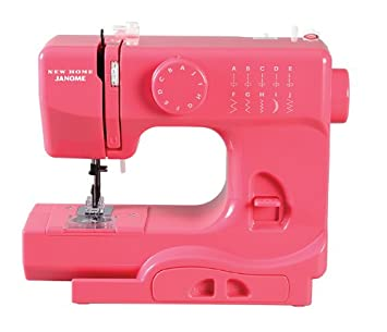 MAQUINA de COSER PORTATIL JANOME color Pink Lighthing