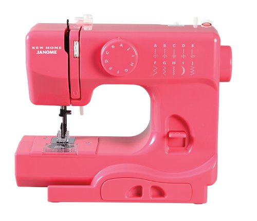 Janome Pink Lightning Basic, Easy-to-Use, 10-Stitch Portable, Compact Sewing Machine with Free Arm only 5 pounds (Janome Manual Sewing Machine compare prices)