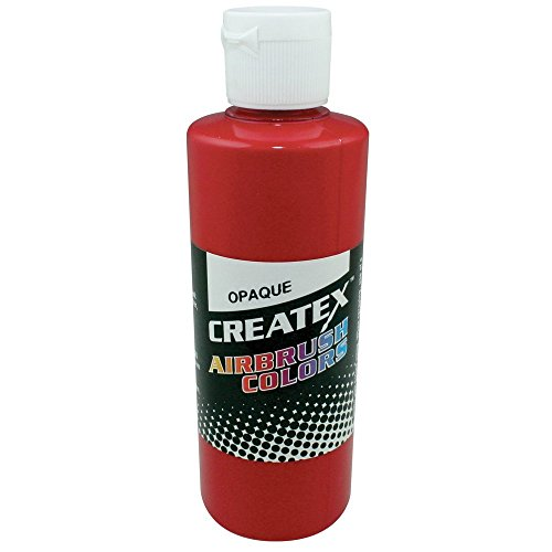 Createx Airbrush Paint, Opaque Red, 2 Oz (5210-02) Createx Paint 2 Oz Bottle