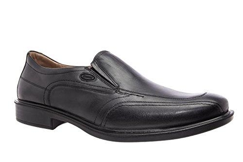 Andres Machado.206206.Slippers de vestir en Piel.Tallas grandes de caballero de la 46 a la 51… negro vestir