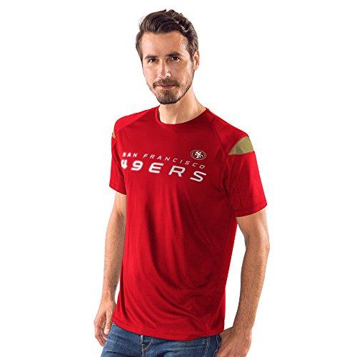 G-III Sports NFL San Francisco 49Ers Elite Short Sleeve Fashion Top,Medium,Red
