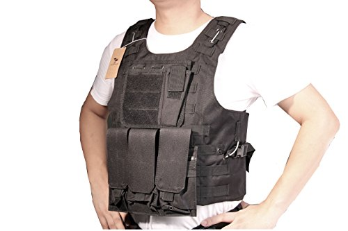 Angle & Dolphin Tactical Vest Combat Training Vest Adjustable Lightweight with Steel Wire