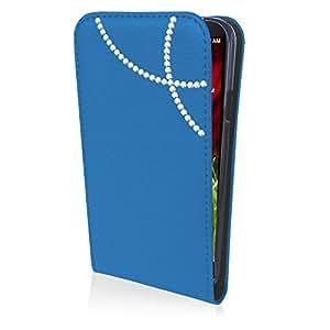 eSPee LG2mB1028 con arco con carcasa de silicona y cierre magnético para mini LG G2 D620 azul