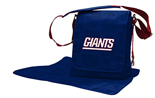 NFL New York Giants Messenger Diaper Bag, 13.25 x 12.25 x 5.75-Inch, Blue by Wild Sports