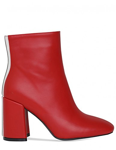 Block Womens Red Ankle PU Stripe with LAMODA in Boots Detail Heeled Cxw5xfZ
