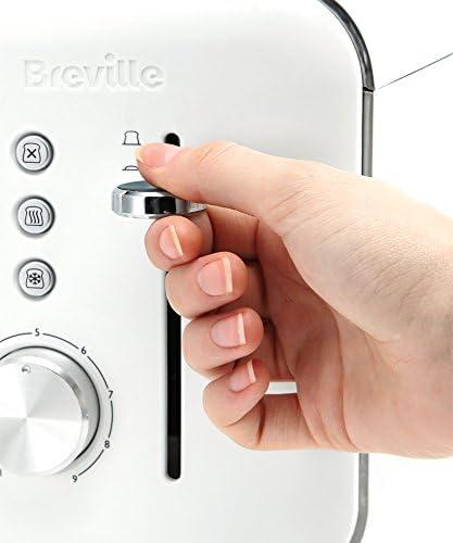 Breville - VTT688 - grille-pain 4fentes - Collection ultra brillante - avec variateur de dorage et extraction facile - blanc