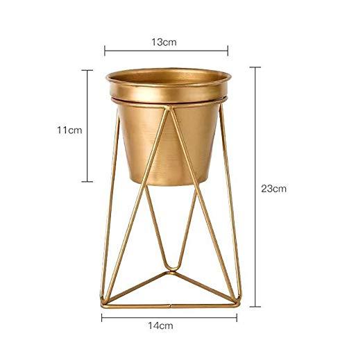HBJP Basamento di fiore di ceramica di stile nordico del basamento del basamento del fiore del ferro dell'oro di stile nordico può essere usato per tre formati che sostengono il basamento dell'interno