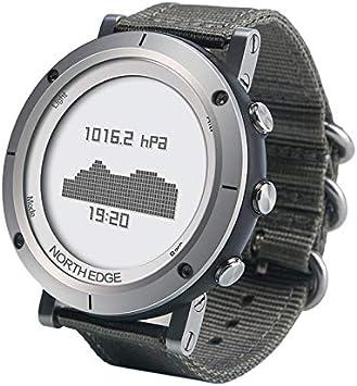 XXSDDM Watch Zona 1 North Edge-Men Fashion Professional Woven Reloj de Pulsera Outdoor Sport Resistente al Agua Reloj Digital Inteligente, Soporte barómetro y Monitor de frecuencia cardíaca. -A