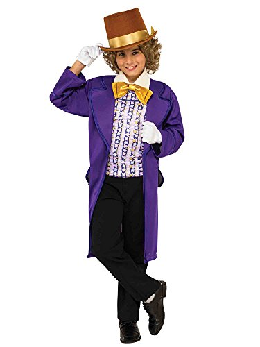 Rubie's Costume Kids Willy Wonka & The Chocolate Factory Willy Wonka Value Costume, Medium -