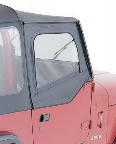 RAMPAGE PRODUCTS 89615 Black Denim Factory Replacement Door Skins (for Soft Upper Doors) for 1987-1995 Jeep Wrangler ()