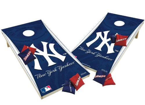 Mlb Tailgate Toss Game - Wild Sports Wooden Cornhole Set - New York Yankees
