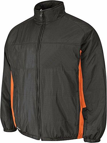 Majestic Men's Therma Base Double Climate Jacket Black/Orange (Orange Therma Base)